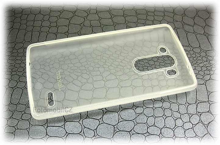 Silikonové pouzdro kryt JEKOD TPU + fólie White pro LG D722 G3s
