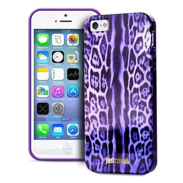 Just Cavalli zadní kryt silikonové pouzdro Leopard pro iPhone 5 5S ... 5f1d1401362