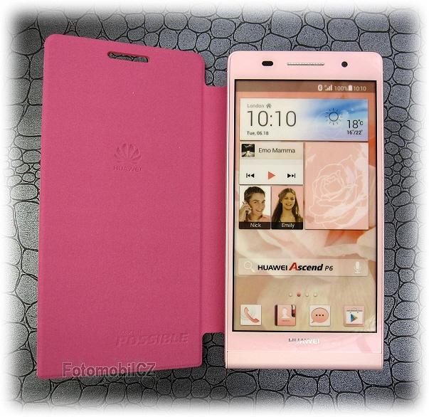 pouzdro Huawei p6 růžové