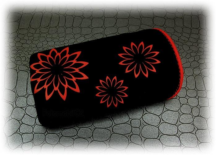 pouzdro červený vzor